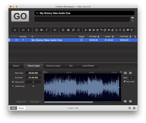 video format qlab f53 qlab audio cues