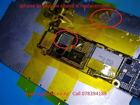iphone 6s plus no sound audio ic replacement celus iphone repair and audio