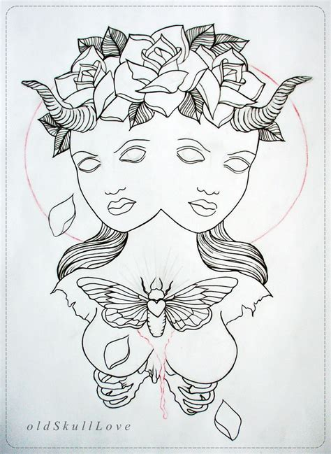 duality tattoo designs duality design outline by oldskulllovebymw