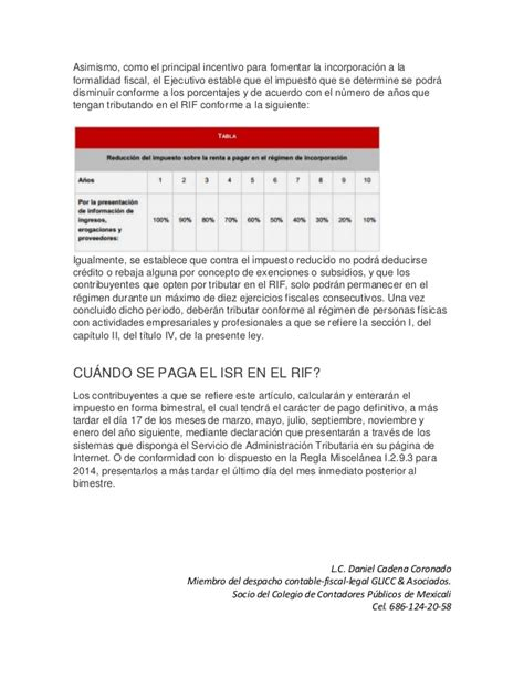 tarifa de isr 2016 para el rif de mexico tabla rif 2016 tabla rif 2016 tabla rif 2016 para