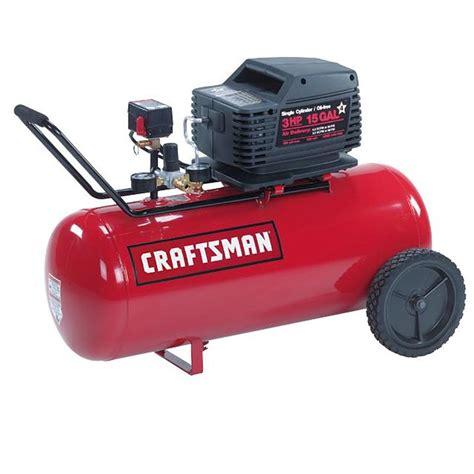craftsman   gal air compressor  hp umc horizontal tank oil  pump sears