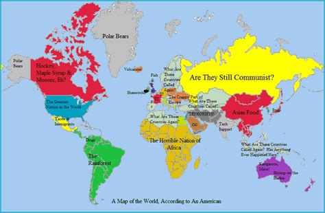 map of the world america living rootless another geography lesson americans map