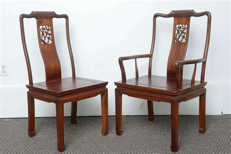 set of eight vintage dining chairs in the asian antique