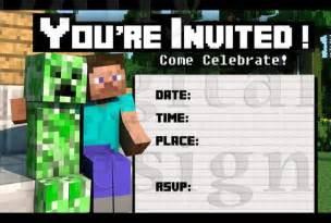 minecraft birthday invitations templates free minecraft printable birthday invitations invitation