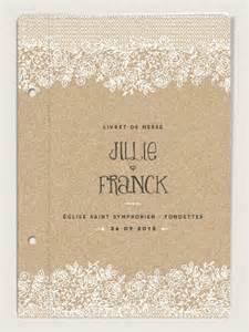 couverture de livret de messe de mariage vintage dentelle