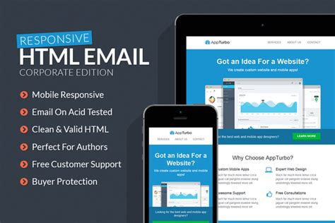 html templates for email appturbo html email template html css themes on