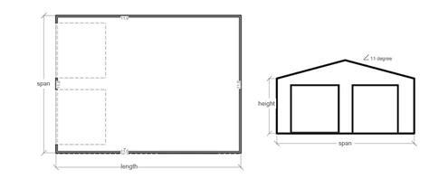 double garage plans double garage dg12 pacific building company
