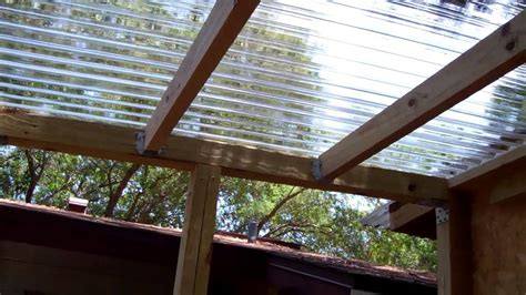 Plastic Pergola Roof by Paint Room Build Polycarbonate Roof 2 Youtube