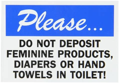 Sign Label Do Not Deposite Sanitaty Napkins Paper Towel In Toilet smartsign adhesive vinyl label legend quot do not deposit