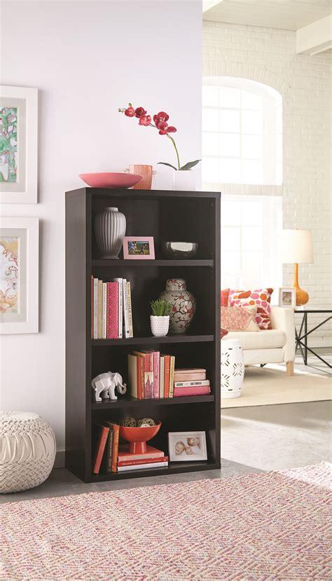 closetmaid 4 shelf bookcase black walnut