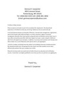 Stage Carpenter Cover Letter by Cover Letter For Geniva D Carpenter