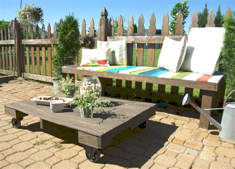 wheels for outdoor furniture maximize your outdoor space with a pallet coffee table on