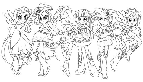 my little pony group coloring pages my little pony przyjaźń to magia strona 15