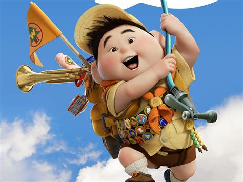 film up characters russell boy in pixar s up wallpapers hd wallpapers id 451