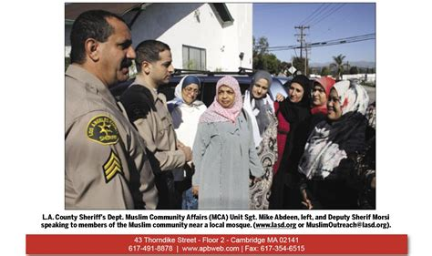 la sheriff baca s muslim outreach programs