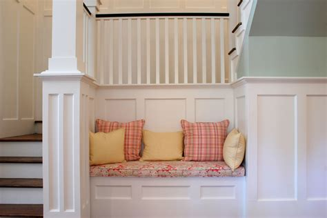 modern chair rail height wainscotting and beadboard crown trim by design