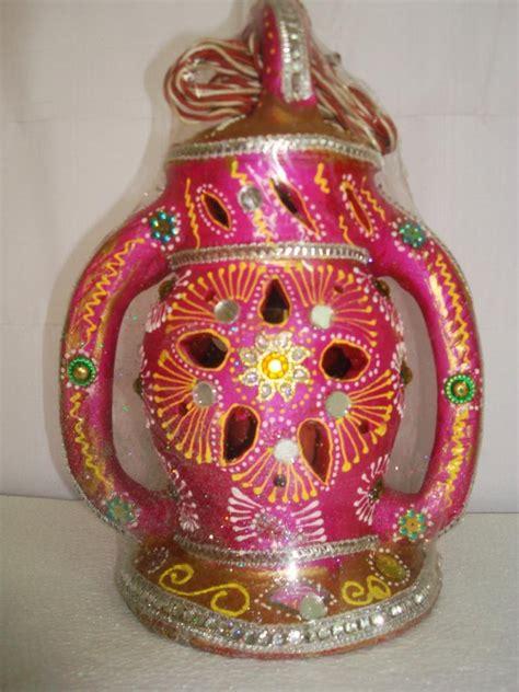 Handmade Diwali Lanterns - handmade earthen mitti nu faanas lantern with sakkad