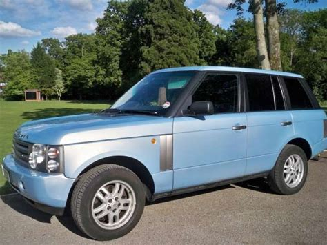light blue range rover light blue range rover car