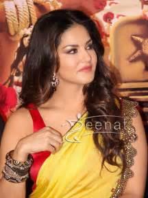 Blue Silk Drapes Sunny Leone At The Trailer Launch Of Ek Paheli Leela