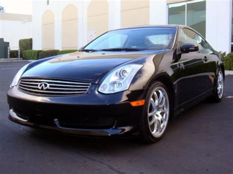 2006 black infiniti 2006 infiniti g35 coupe 6mt black black navigation clean