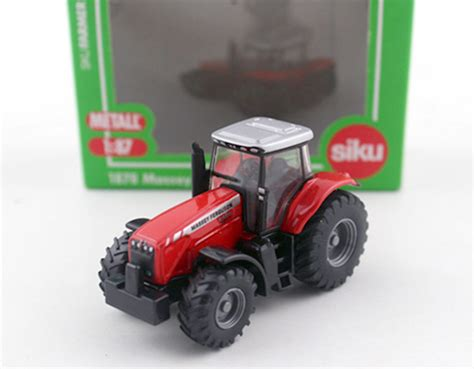 Mainan Mobil Traktor jerman siku 1878 massey ferguson traktor mf 8480 1 87 logam paduan model mobil mainan