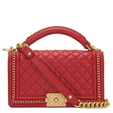 Chanel Quilted Calfskin Doctor Bag by Chanel Quilted Calfskin Medium Boy Bag With Handle