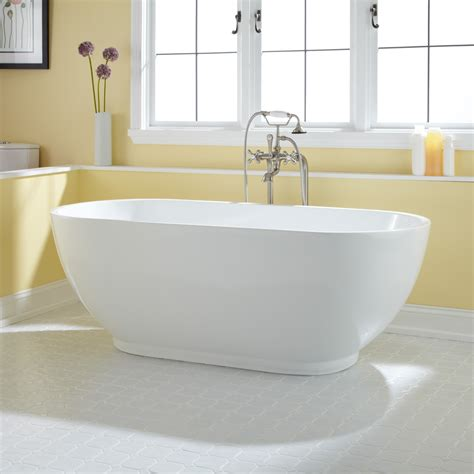 bathrooms with freestanding tubs 67 quot coley acrylic freestanding tub bathroom