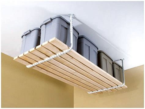 ceiling shelves garage 1000 ideas about garage ceiling storage on