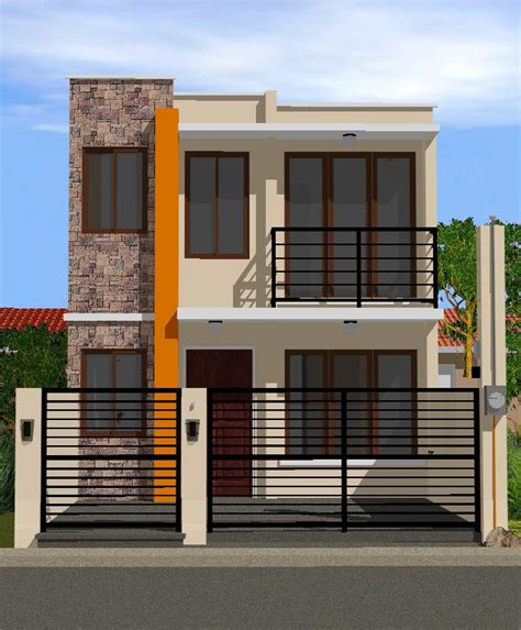 two story small house design collection 50 beautiful narrow house design for a 2 story 2 floor home with small lot