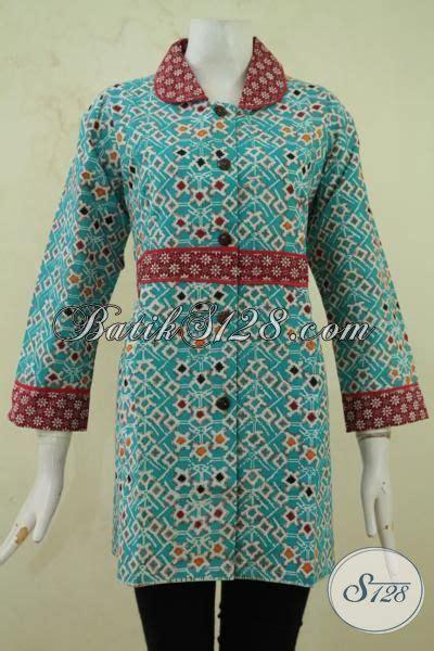 Baju Formal Kantor batik wanita desain formal baju batik untuk ke kantor berbahan halus motif unik pakaian batik