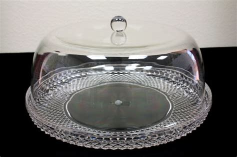 cake plate with cover diamondware acrylic plastic cake plate with dome lid
