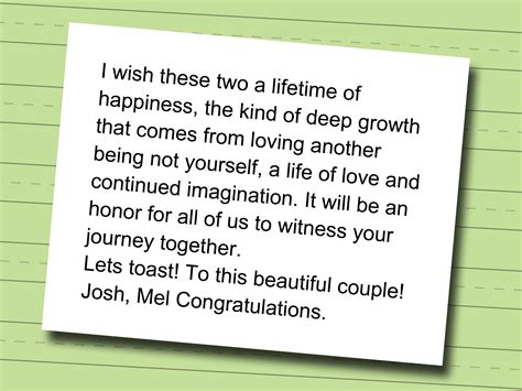 Wedding Congratulation Speech by How To Write A Best Speech 10 Steps With Pictures
