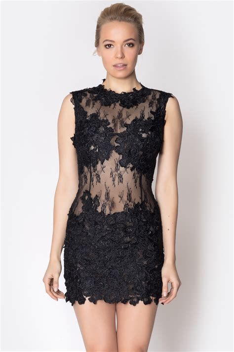 issue lace mesh dress from soho by foravi shoptiques