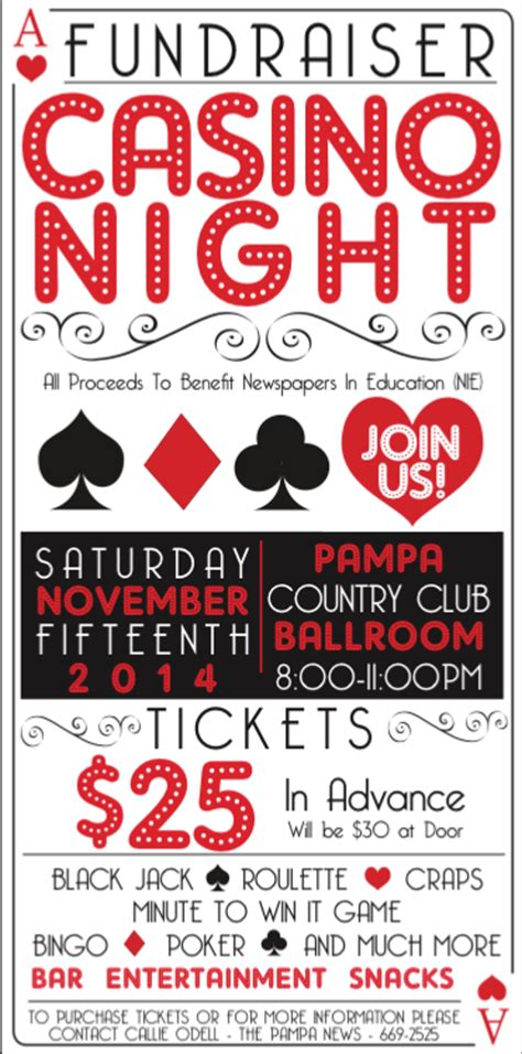 Casino Night Fundraiser Ticket Poster Design On Behance Casino Fundraiser Flyer Template