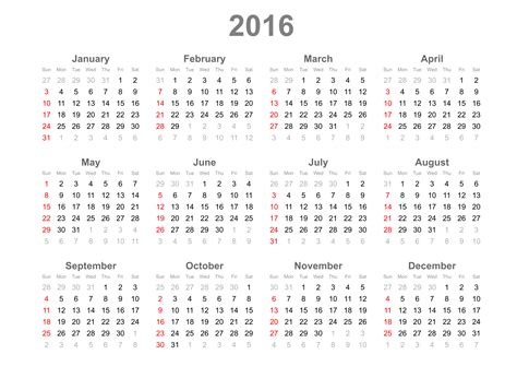 large printable yearly calendar 2016 large 2016 calendars calendar template 2016