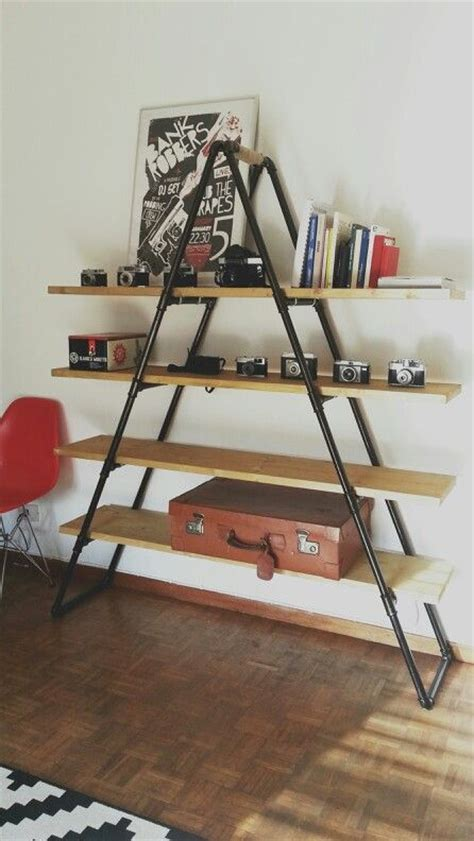 diy industrial pipe book shelf oh me home