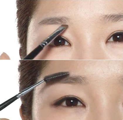 cara membentuk alis wanita korea tutorial membentuk alis lurus dari make up artist korea