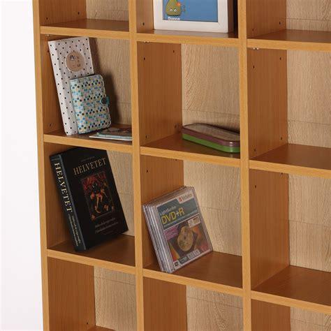 libreria porta cd homcom mobile libreria porta cd a muro 24 scompartimenti
