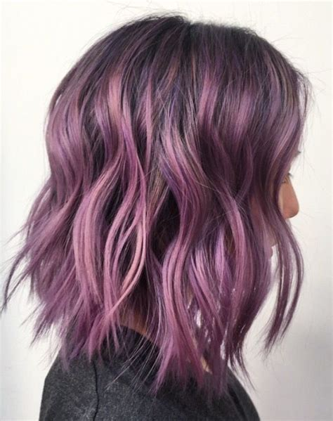 black stacked bob with purple balayage 328 best hair color images on pinterest colourful hair