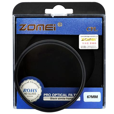 Optic Pro Filter Cpl 67mm 1 zomei ultra slim agc optical glass pro cpl circular polarizing polarizer lens filter 52