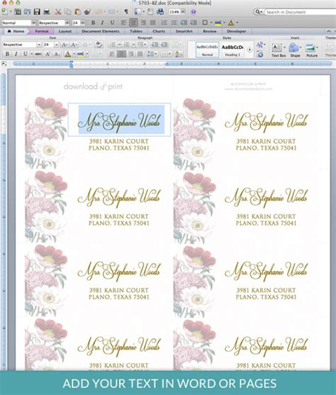 39 stunning template designs for address labels thogati exquisite template design of address label with red rose