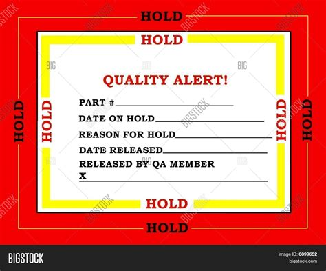 pricing sheet template quality control tag stock photo amp stock images bigstock