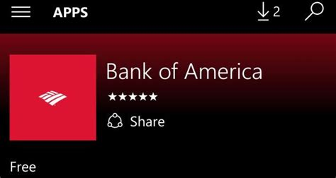 bank of america app store bank of america uwp app now available in the store