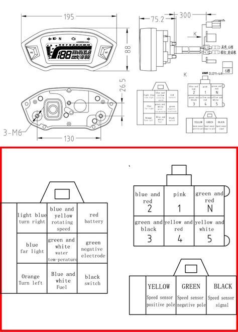 motorcycle speedometer wiring diagram k