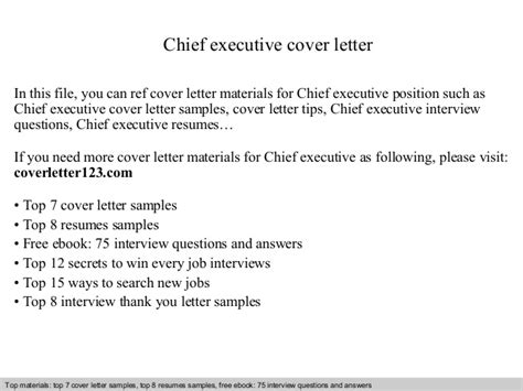 executive cover letter exles ceo chief executive cover letter