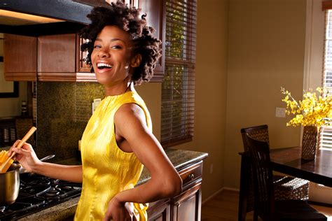 Black Cooking In The Kitchen by The Thanksgiving Menu For The On The Move