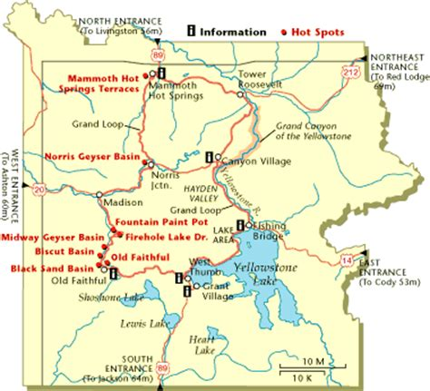 map of united states showing yellowstone national park into the witch s cauldron yellowstone wy wheeling it
