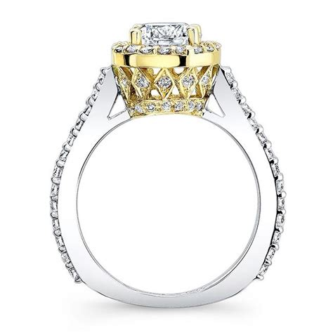 Two Tone Halo Engagement Ring - barkev s two tone halo engagement ring 7933lty