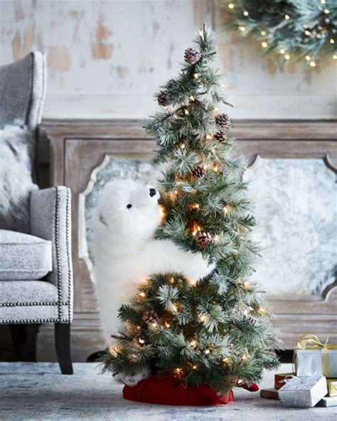 horchow christmas tree ditz designs by the hen house white on lighted frosted tree 4
