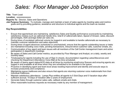 Call Center Manager Description by Sle Call Center Hierarchy 8 13 07